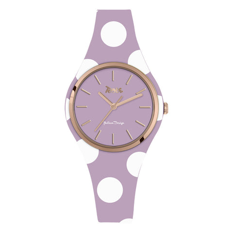 Related product : Orologio donna in silicone anallergico glicine con pois bianchi