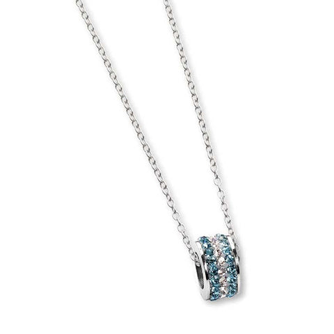 Related product : Collana con passante in strass celesti e boreali