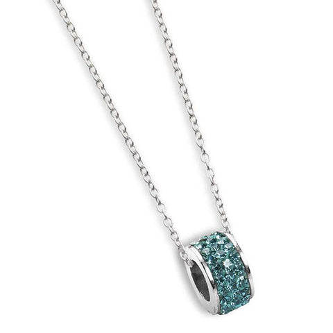 Related product : Collana con passante in strass verde acqua