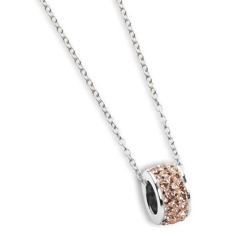 Related product : Collana con passante in strass champagne