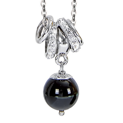 Related product : Collana con pendente in ossidiana e strass
