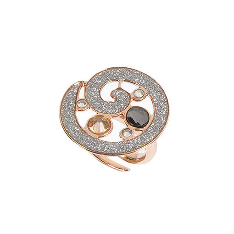 Related product : Anello con glitter e mosaico di Swarovski dalle sfumature silver