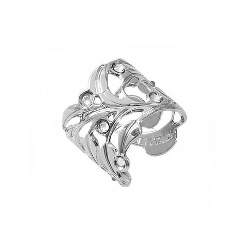Related product : Anello rodiato con traforo ramage e Swarovski