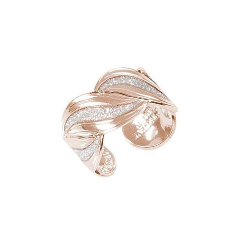 Related product : Anello rosato a fascia con superfici glitterate a forma di nodo d'amore