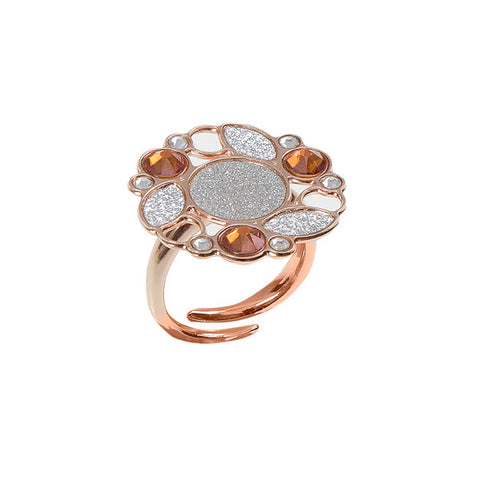 Related product : Anello rosato con decoro in gliter e Swarovski