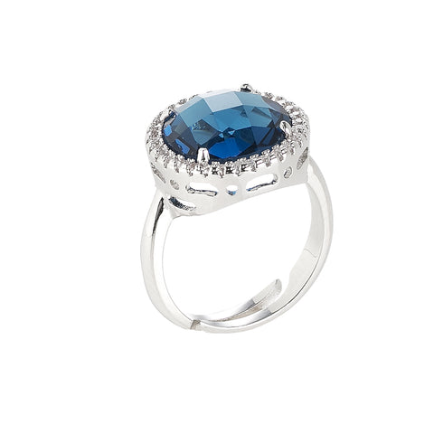 Related product : Anello con cristallo Montana e zirconi