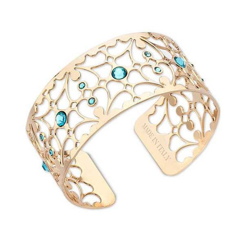 Related product : Bracciale in bronzo e cristalli Swarovski verde acqua