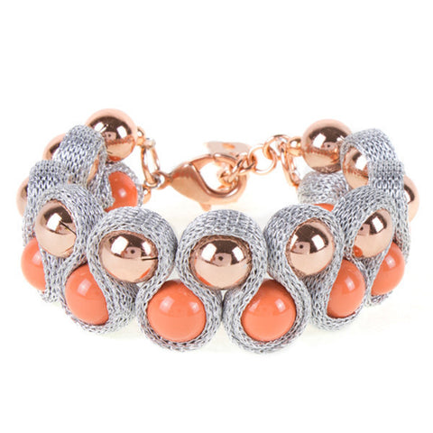 Related product : Bracciale soutaches in lamè argentato e Swarovski