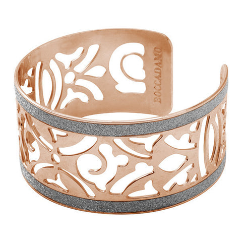 Related product : Bracciale in bronzo placcato oro rosa e glitter