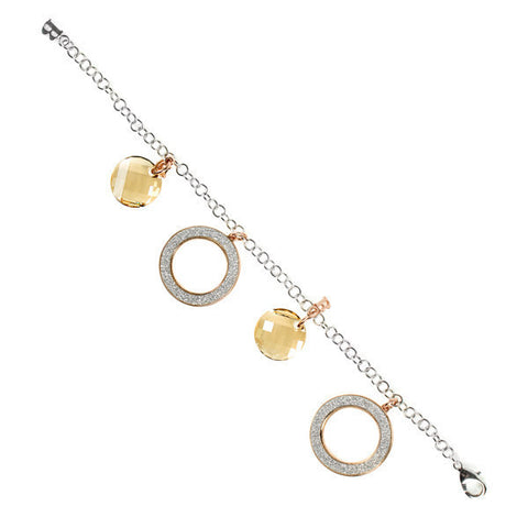 Related product : Bracciale con charms glitterati e Swarovski
