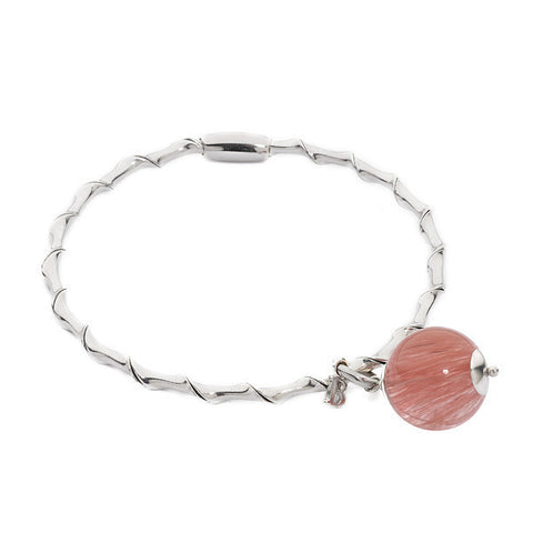 Related product : Bracciale rigido con quarzo rosa fragola