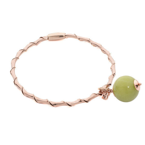 Related product : Bracciale rigido con giada color oliva