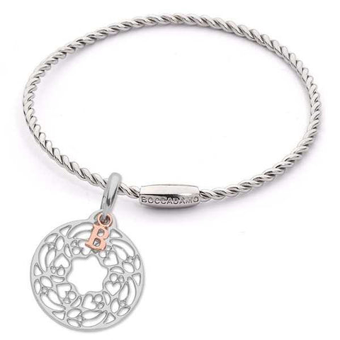 Related product : Bracciale torchon con charm astratto
