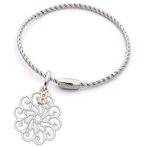 Related product : Bracciale torchon con charm floreale