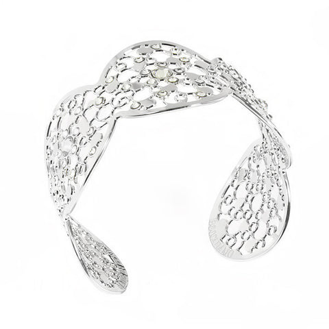 Related product : Bracciale rigido con decoro rugiada e cristalli crystal