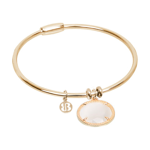 Related product : Bracciale rigido con cristallo bianco