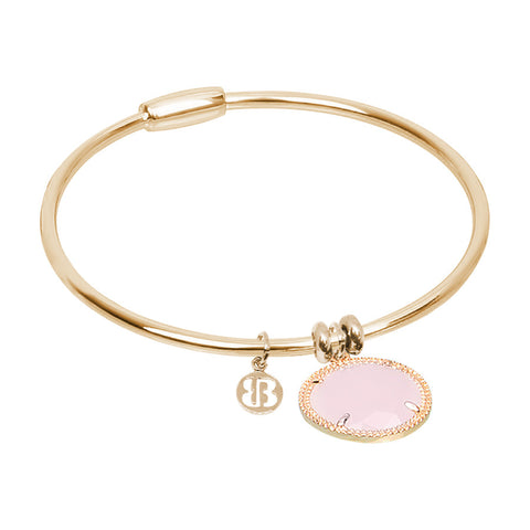 Related product : Bracciale rigido con cristallo rosa