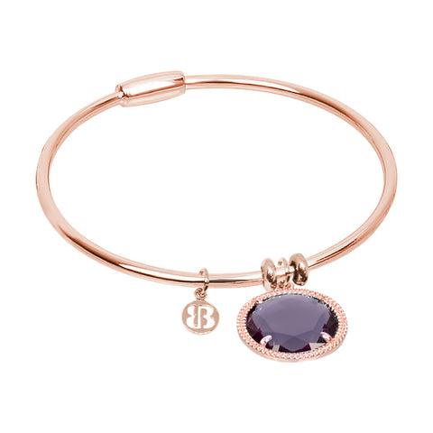 Related product : Bracciale rigido con cristallo viola