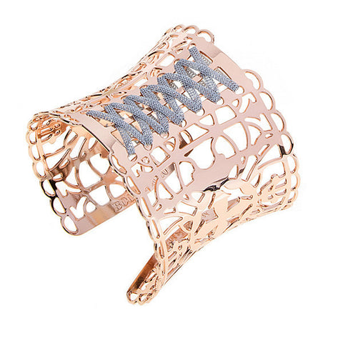 Related product : Bracciale rosato con corsetto placcato oro rosa