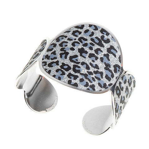 Related product : Bracciale rodiato con motivo animalier leopardato