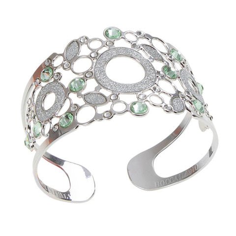 Related product : Bracciale rigido con centrale glitterato e decoro in Swarovski