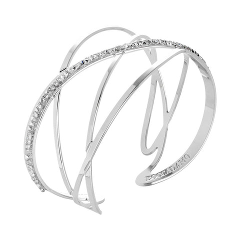 Bracciale rigido con decoro in Swarovsky crystal rock crystal