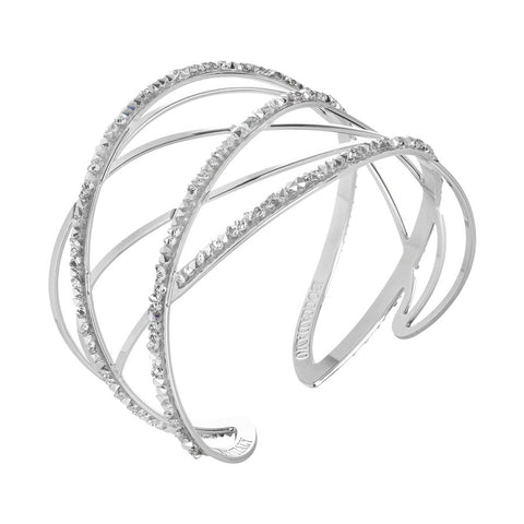 Bracciale rigido con decori in Swarovsky crystal rock crystal