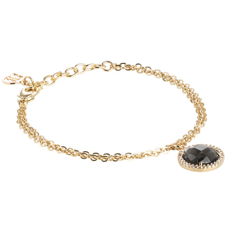 Related product : Bracciale con cristallo smoky quartz e zirconi
