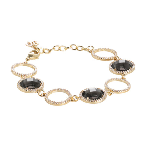 Related product : Bracciale con cristalli smoky quartz e zirconi