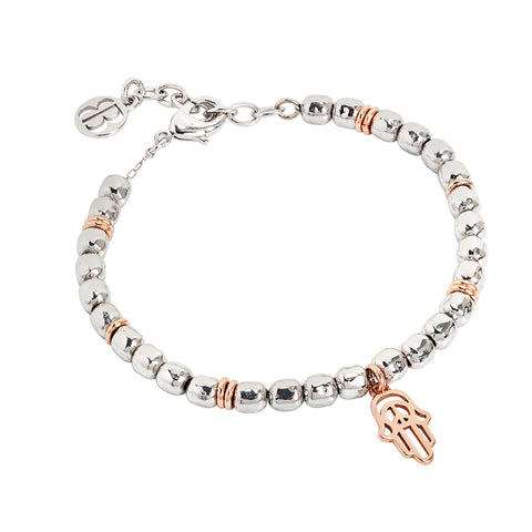 Related product : Bracciale beads con mano di fatima rosata