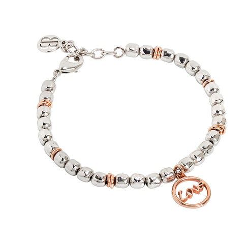 "Related product : Bracciale beads con scritta ""love"" rosata"