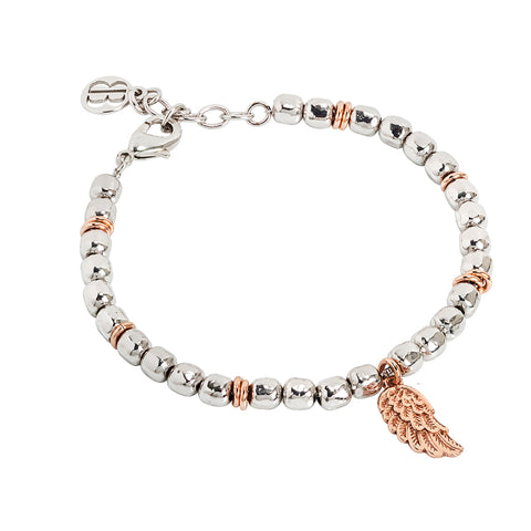 Related product : Bracciale beads con ala d'angelo rosata