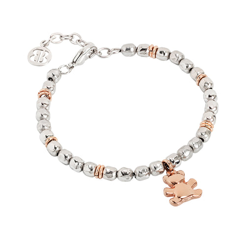 Related product : Bracciale beads con orsetto rosato
