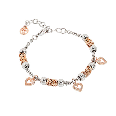 Related product : Bracciale beads con cuori rosati di zirconi