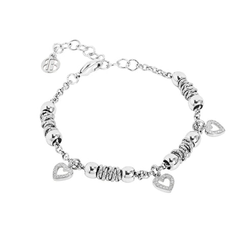 Related product : Bracciale beads con cuori zirconati