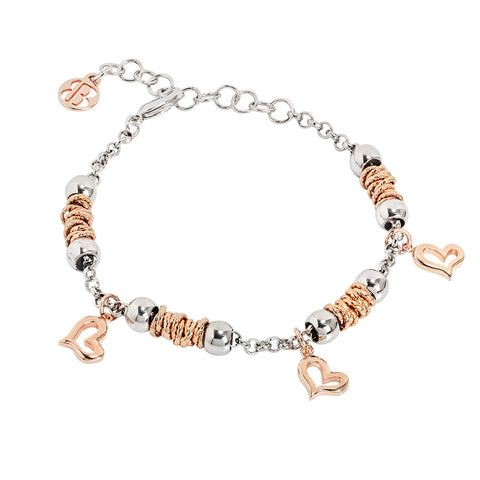 Related product : Bracciale beads con cuori rosati