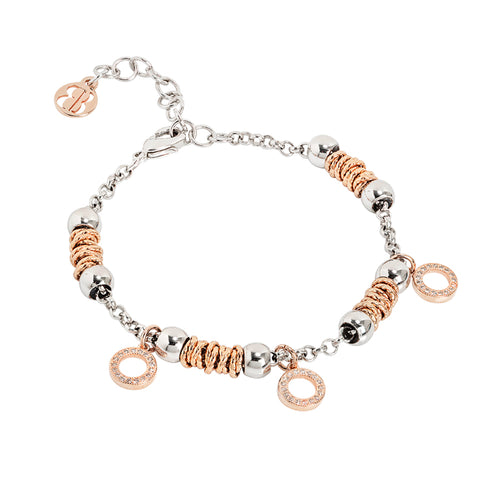 Related product : Bracciale beads con cerchi rosati di zirconi