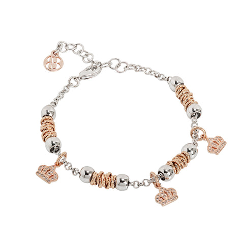 Related product : Bracciale beads con corone rosate di zirconi