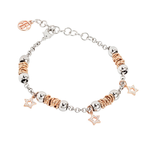 Related product : Bracciale beads con stelle rosate di zirconi