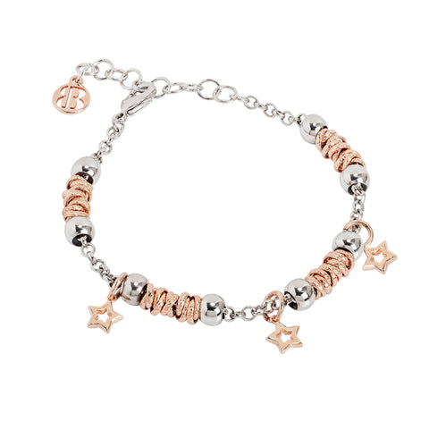 Related product : Bracciale beads con stelle rosate