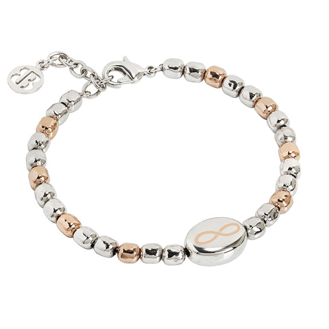 Related product : Bracciale beads bicolor con infinito laserato