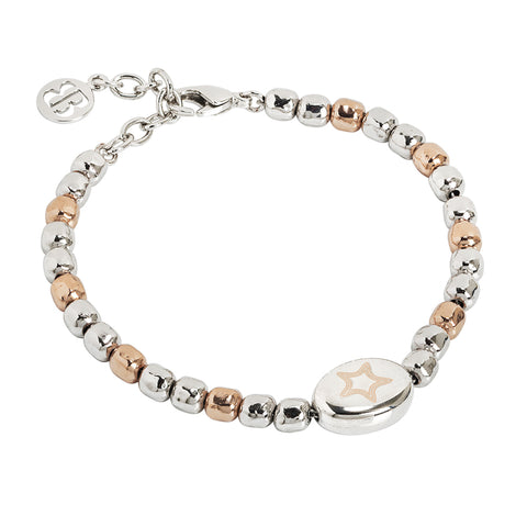 Related product : Bracciale beads bicolor con stella laserata