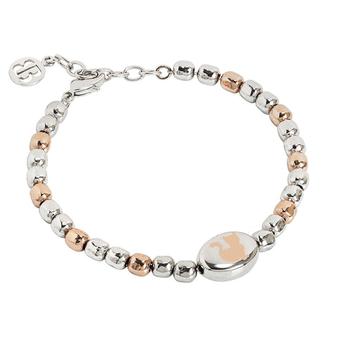 Related product : Bracciale beads bicolor con gatto laserato