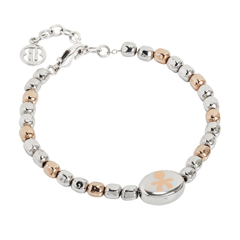 Related product : Bracciale beads bicolor con bimbo laserato