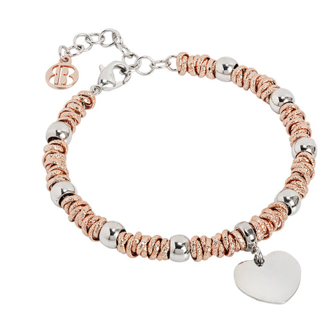 Related product : Bracciale bicolor con cuore rodiato