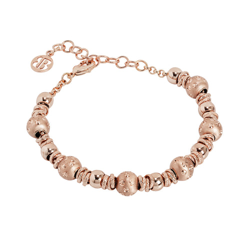 Related product : Bracciale rosato con sfere e setate