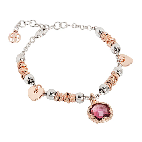 Related product : Bracciale con cristallo sfaccettato color ametista
