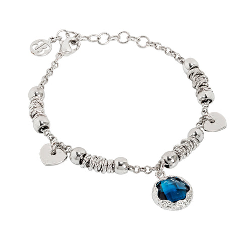 Related product : Bracciale con cristallo sfaccettato blu London