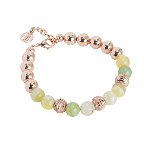 Bracciale rosato con agata light yellow