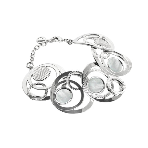 Related product : Bracciale semirigido con orbite di madreperla e zirconi